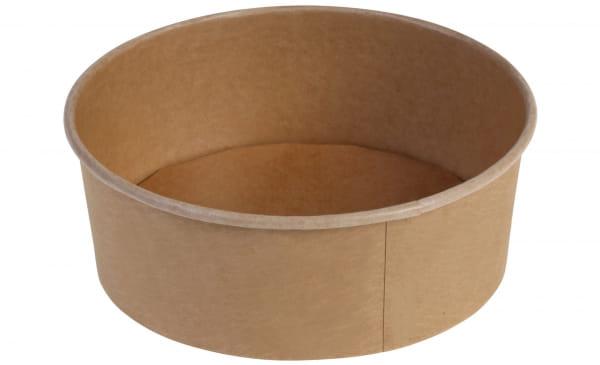Salatschale Kraftpapier Ø 18,5 cm 1.300 ml braun