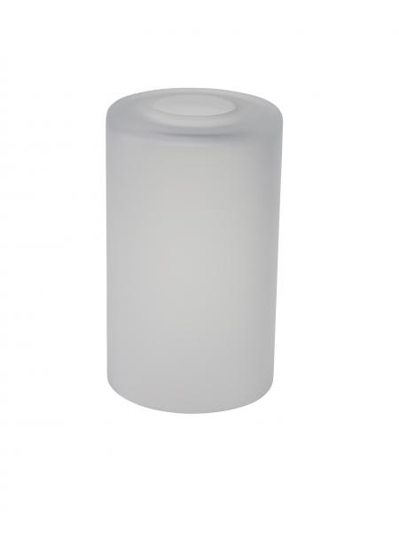 Candola Glaszylinder weiß, milchig, gekürzt (Type: V) - 6 Stück