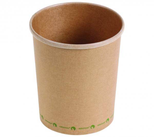 Suppenbecher Kraftpapier PLA beschichtet 950 ml braun (15533-375)