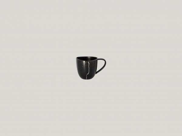 RAK Espressotasse Ht. 6 cm Ihn. 9 cl Schwarz/Silber KINTZOO (KZSWCU10S1)