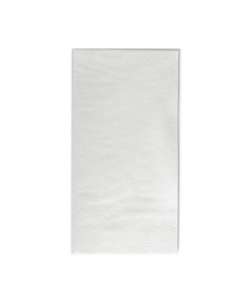 Zelltuch-Servietten 40 x 40 cm 2-lagig 1/8 Falz weiß