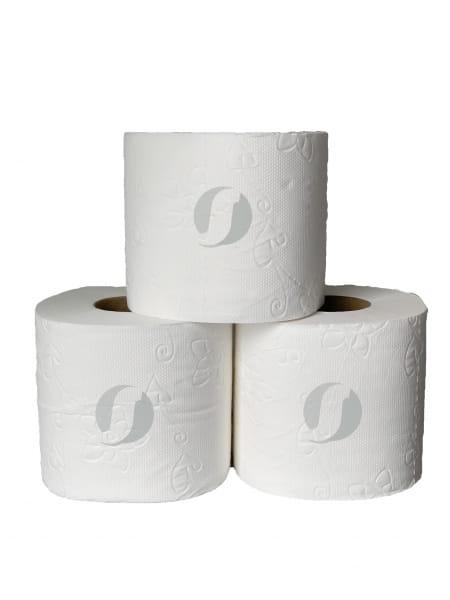 Rollen Toilettenpapier 4-lagig 140 Langblatt leicht pafümiert weiß