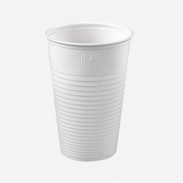 Trinkbecher PP 200 ml weiß Ø 70,3 mm Höhe: 99,0 mm
