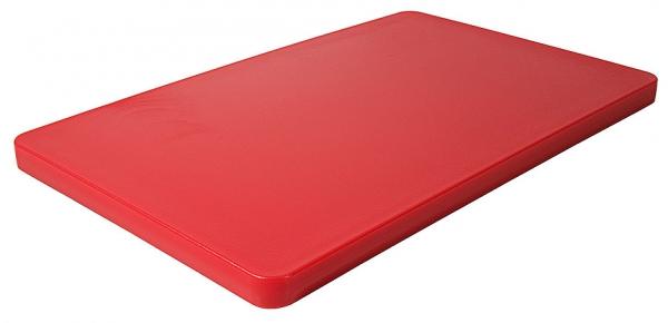 Schneidbrett HACCP mit Füßchen; GN-Größe 1/1 Länge: 53 cm Breite: 32,5 cm Dicke: 2,5 cm rot