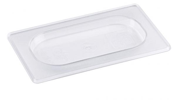 GN-Deckel aus Polycarbonat für Edelstahlbehälter - GN 1/9