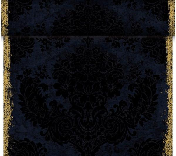 4 x 1 Dunicel-Tischläufer Tete a Tete 0,4 m x 24 m Royal black
