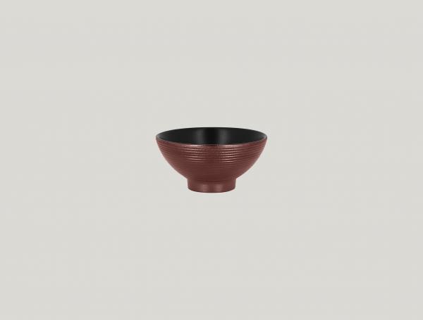 RAK Schale rund mit Relief-Dekor D. 12 cm H. 6 cm Inh. 28 cl METALFUSION bronze