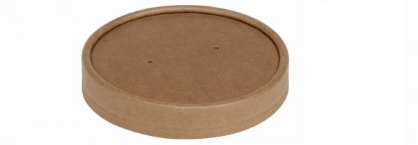 Deckel Kraftpapier zu Suppenbecher 750/950 ml 140471 + 140478 braun