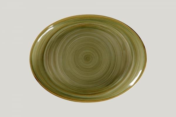 RAK Platte oval L 36 cm B 27 cm RAKSTONE / SPOT emerald (SEMNNOP36)