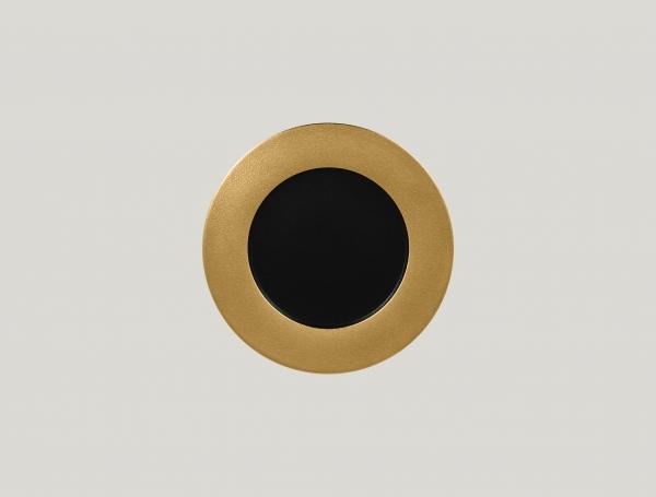 RAK Teller flach D. 22 cm H. 2 cm METALFUSION gold