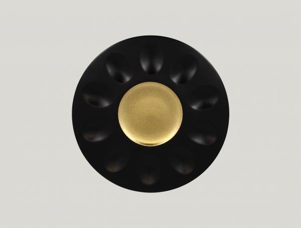RAK Teller mit 10 Flächen D. 30 cm H. 1,4 cm METALFUSION gold