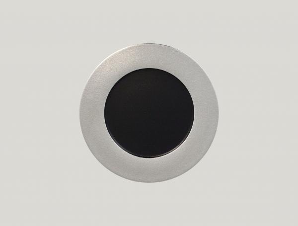 RAK Teller flach D. 27 cm H. 2 cm METALFUSION silber
