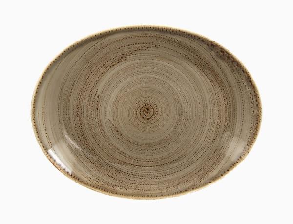 RAK Platte flach oval 36 x 27 cm Alga Twirl