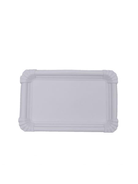 Pappteller 11 x 17 cm weiß