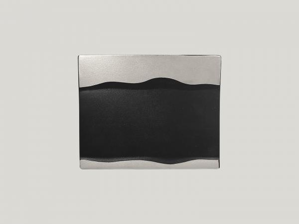 RAK Platte rechteckig L. 25 cm Br. 20 cm H. 2 cm METALFUSION silber