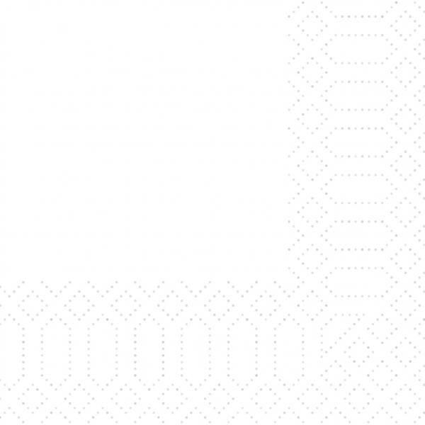 Zelltuch-Servietten 40 x 40 cm 2-lagig 1/4 Falz weiß