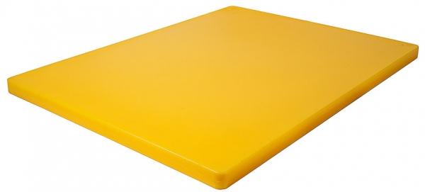 Schneidbrett HACCP ohne Füßchen Länge: 61 cm Breite: 46 cm Dicke: 2,5 cm gelb