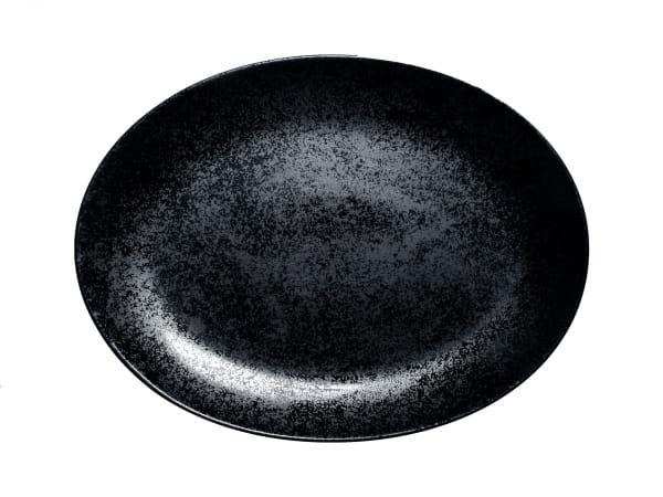 RAK Platten oval L.:32 cm Br.:23 cm KARBON schwarz (KRNNOP32)