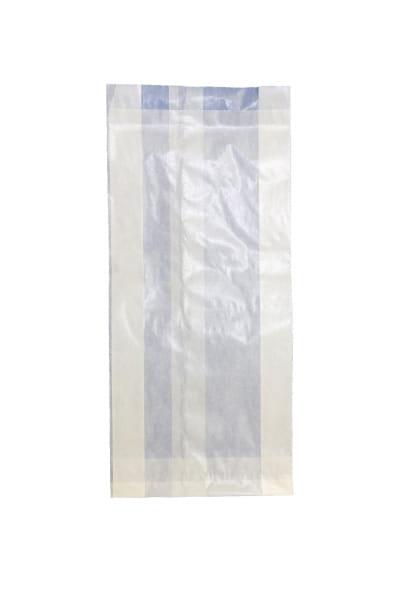 Pergamin-Faltenbeutel 11 x 4 x 21 cm 0,50 kg weiß (614)