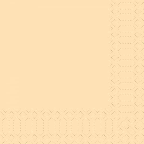 DUNI Zellstoff-Servietten 33 x 33 cm 3-lagig 1/4 Falz creme
