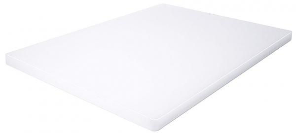 Schneidbrett HACCP ohne Füßchen Länge: 61 cm Breite: 46 cm Dicke: 2,5 cm weiß