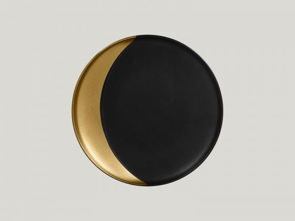 RAK Teller tief rund D. 27 cm METALFUSION gold