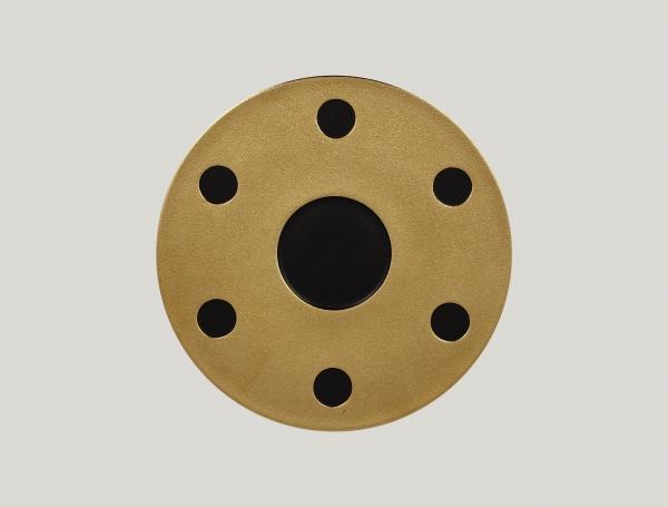 RAK Platte für Kaffee Set arabisch D. 31 cm METALFUSION gold