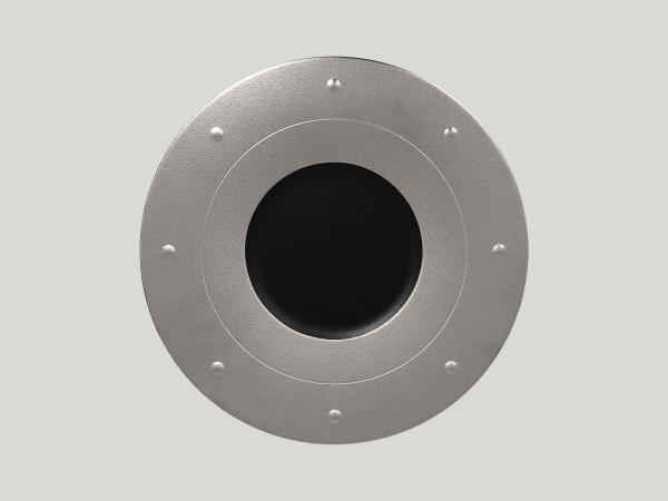 RAK Teller rund D. 31 cm H. 2,5 cm METALFUSION silber