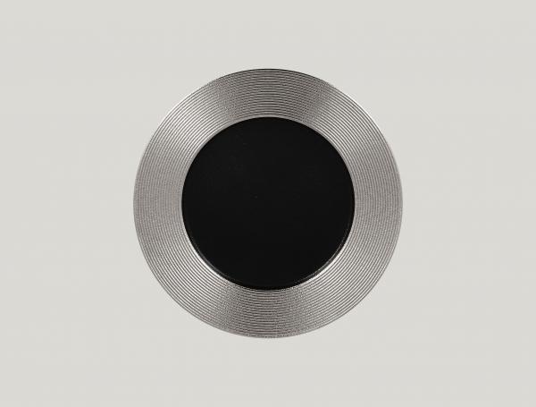 RAK Teller flach rund mit Relief-Dekor D. 29 cm H. 2 cm METALFUSION silber