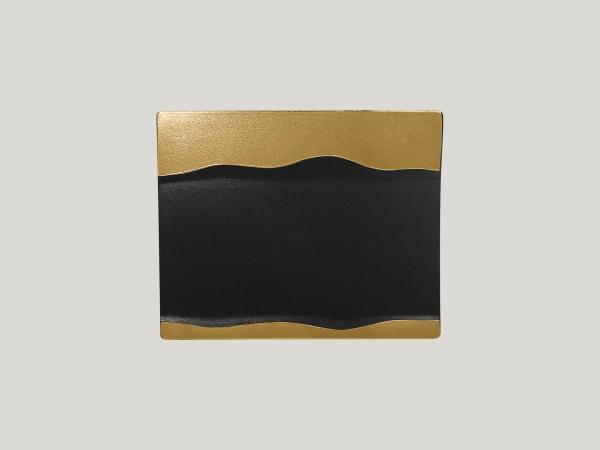 RAK Platte rechteckig L. 25 cm Br. 20 cm H. 2 cm METALFUSION gold