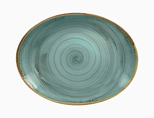 RAK Platte flach oval 36 x 27 cm Lagoon Twirl