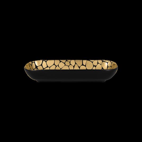 RAK Schale rechteckig L. 22 cm Br, 11 cm H. 3,5 cm Inh. 32,5 cl PEBBLES gold