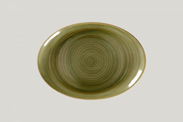 RAK Platte oval L 32 cm B 23 cm RAKSTONE / SPOT emerald (SEMNNOP32)