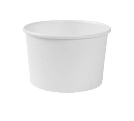 Eisbecher Hartpapier 160 ccm weiß
