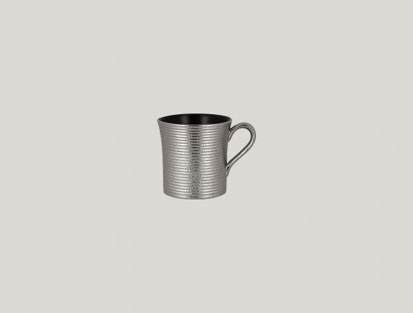 RAK Kaffeetasse mit Relief-Dekor D. 7,7 cm H. 7,8 cm Inh. 20 cl METALFUSION