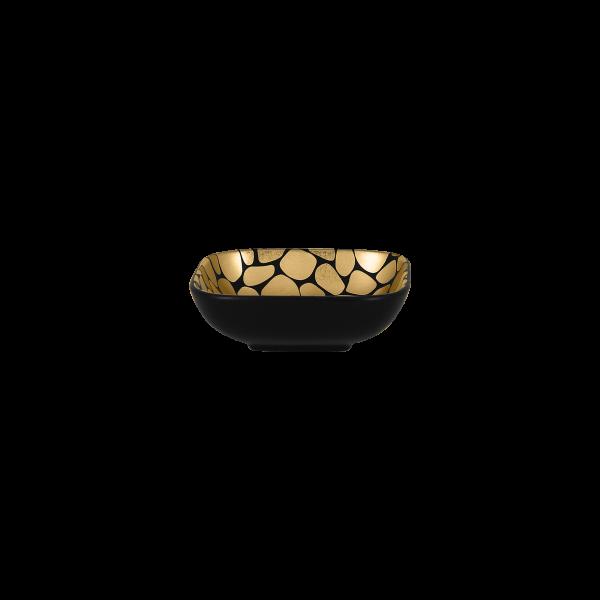 RAK Schale quadratisch L. 11 cm Br. 11 cm H. 3,5 cm Inh. 16,5 cl PEBBLES gold