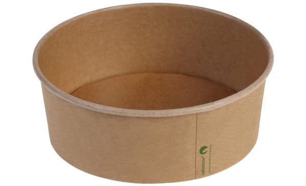 Naturesse Salatschale Kraftpapier Ø 18,5 cm 1200 - 1300 ml braun (17014)