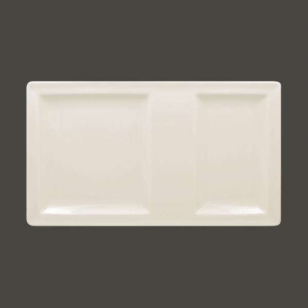 RAK Platte rechteckig mit 2 Flächen 37 cm x 21 cm CLASSIC GOURMET (CLRP37IN2)