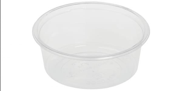 Verpackungsbecher PLA 350 ml Ø 12,1 cm H:5,1 cm rund transparent