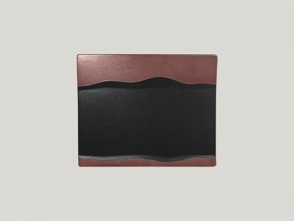 RAK Platte rechteckig L. 25 cm Br. 20 cm h. 2 cm METALFUSION bronze
