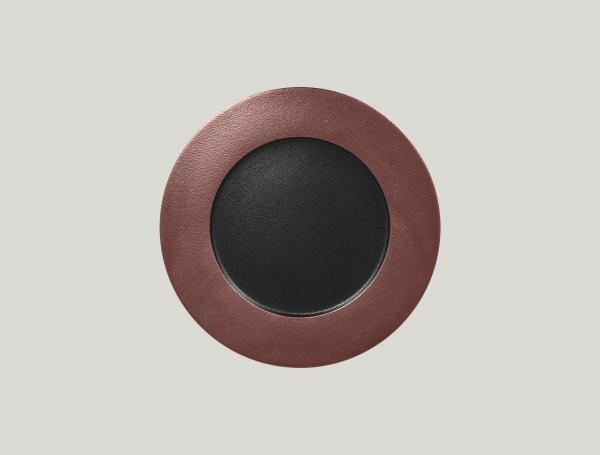 RAK Teller flach D. 27 cm H. 2 cm METALFUSION bronze