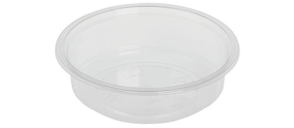 Verpackungsbecher PLA 240 ml Ø 12,1 cm H:3,5 cm rund transparent