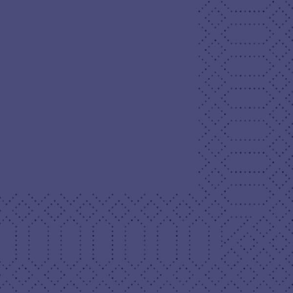 Duni Zelltuch-Servietten 24 x 24 cm 3-lagig 1/4 F blau