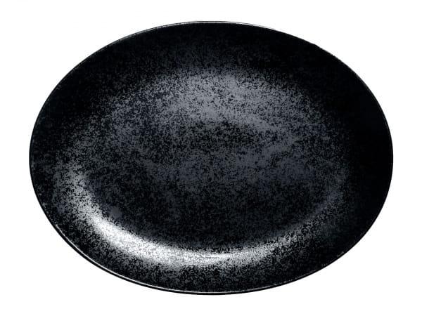 RAK Platten oval 36 cm w 27 cm KARBON schwarz (KRNNOP36)