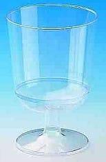 40 x 10 Weingläser 1-teilig PS 0,2 l Eichstrich glaskla