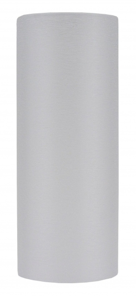 Candola Zylinder Tube Acryl weiß, milchig, gebürstet (Type: A) - 6 Stück