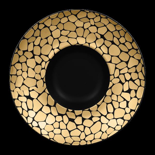 RAK Gourmetteller tief D. 26 cm H. 6 cm PEBBLES gold