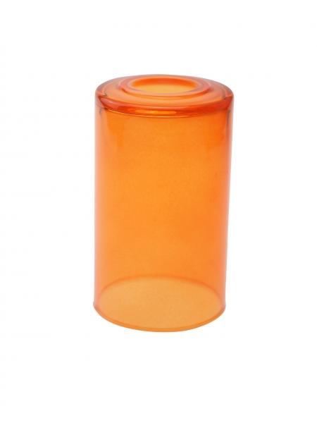 Candola Glaszylinder klar gekürzt, mandarin (Type: V) - 6 Stück