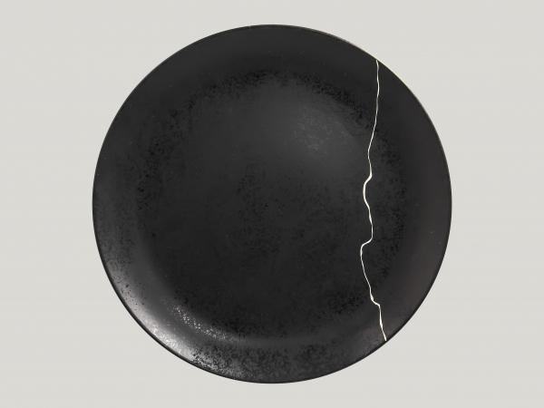 RAK Teller flach coup Ø 31 cm Ht. 3.2 cm Schwarz/Silber KINTZOO (KZNNPR31S1)
