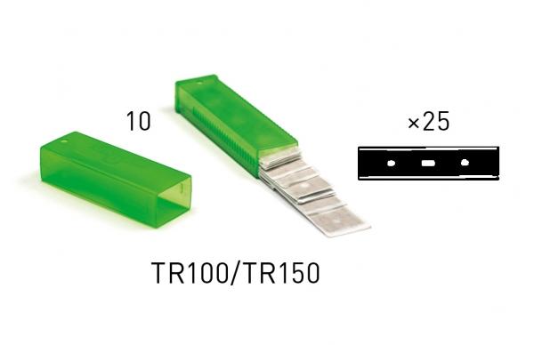 10 Unger KARBON-GLASSCHABERKLINGEN 10/15 CM (TR100)